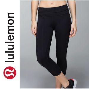 Lululemon Inspire Crop II black leggings